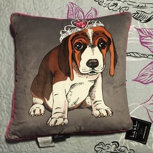 Nicole Miller NY Pet Decorative Pillow - Tiara Dog